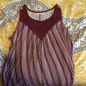 Maurices striped tank top